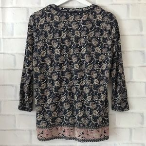 Lucky Brand Tops - Lucky Brand | pleat front floral 3/4 sleeve blouse